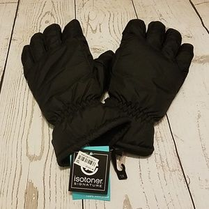 Men's XL Isotoner Waterproof Gloves Black